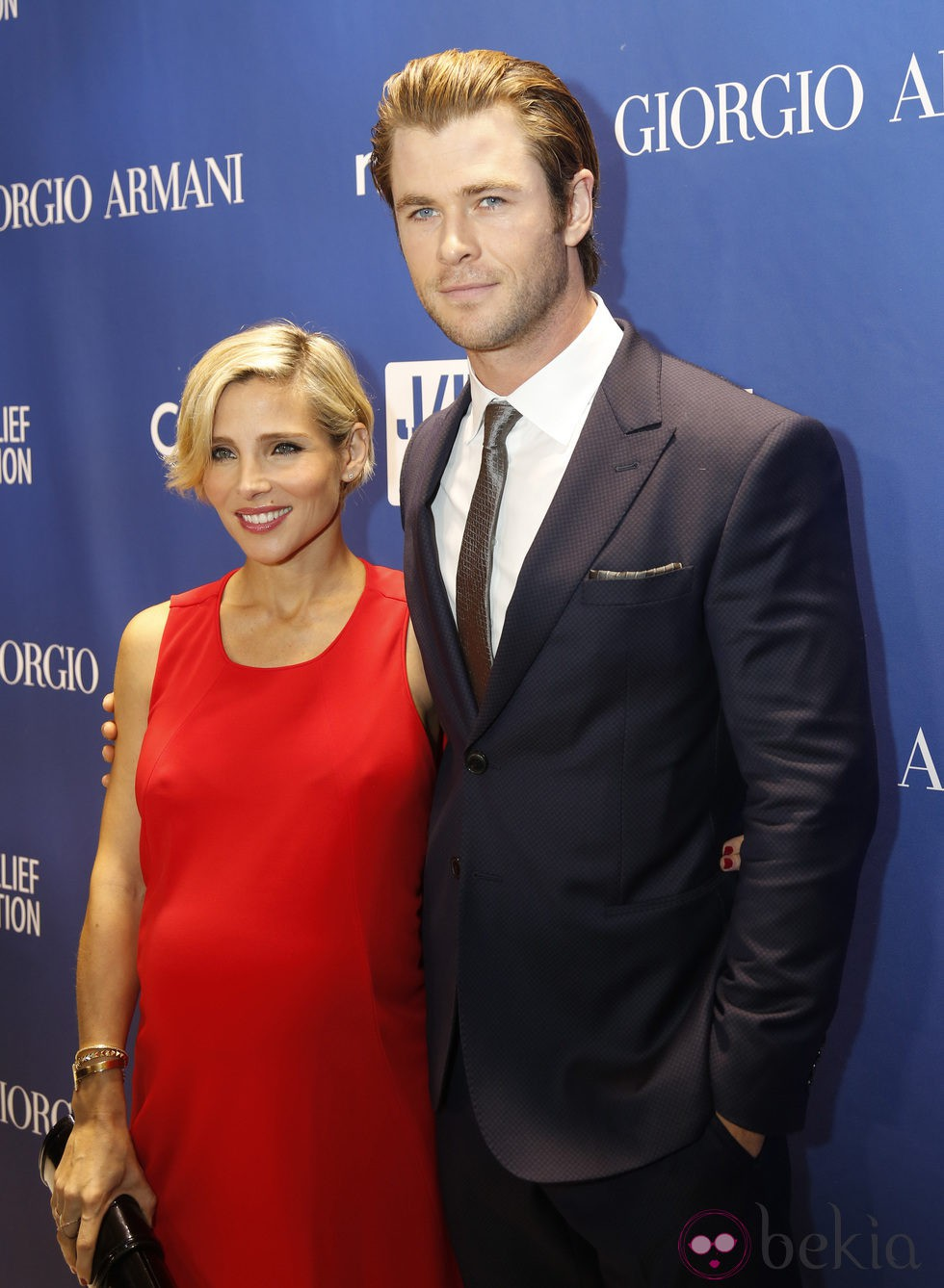 Elsa Pataky y Chris Hemsworth  en la tercera gala benéfica  'Sean Penn & Friends HELP HAITI HOME