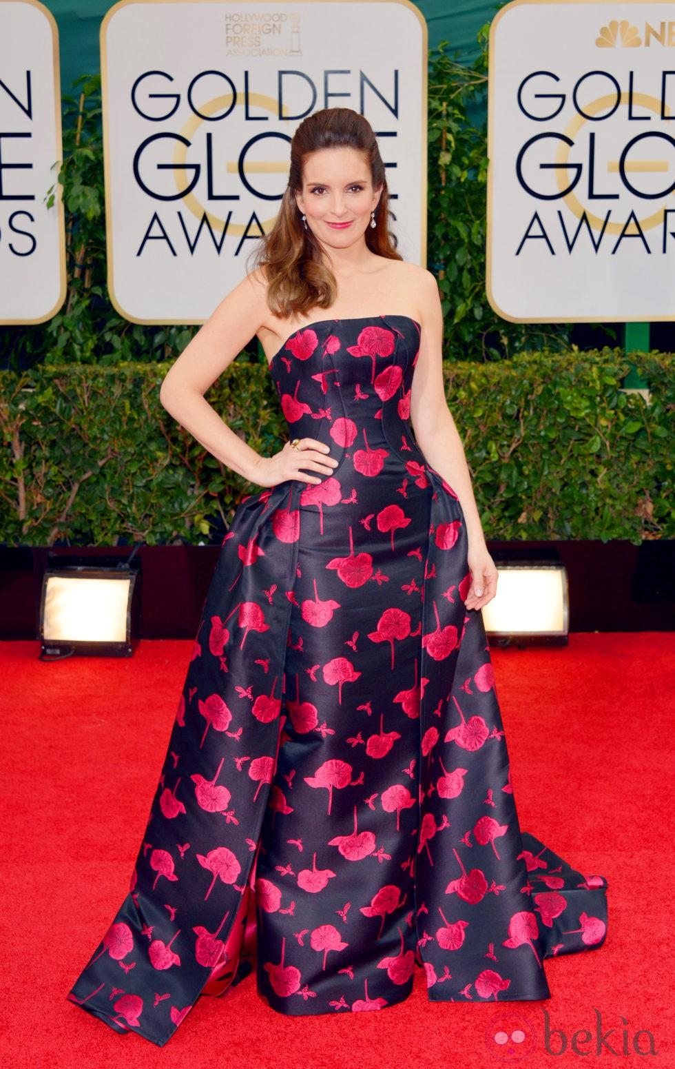 Tina Fey en la alfombra roja de los Globos de Oro 2014