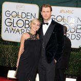 Chris Hemsworth y Elsa Pataky en la alfombra roja de los Globos de Oro 2014