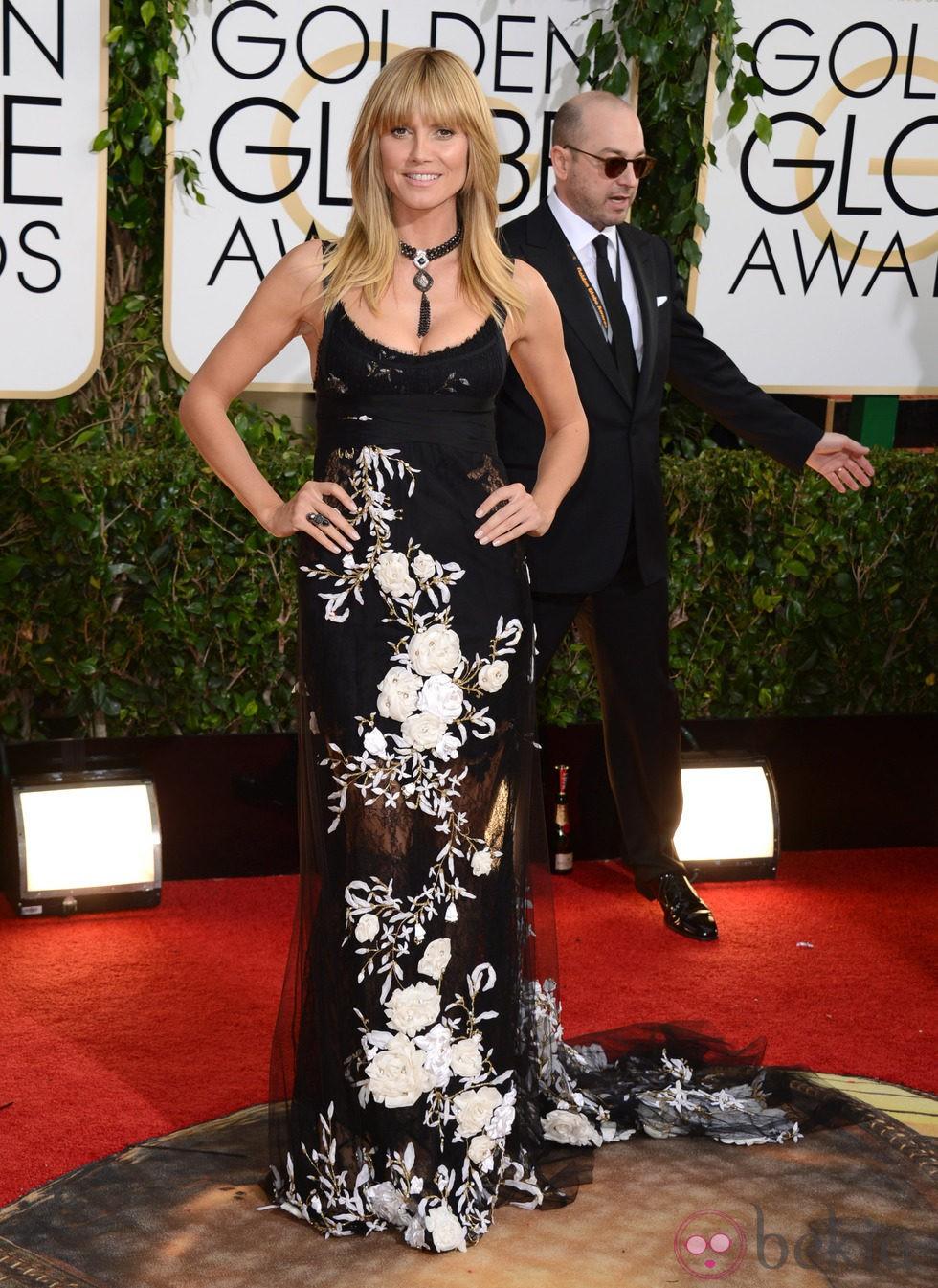Heidi Klum en la alfombra roja de los Globos de Oro 2014
