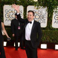 Jimmy Fallon en la alfombra roja de los Globos de Oro 2014