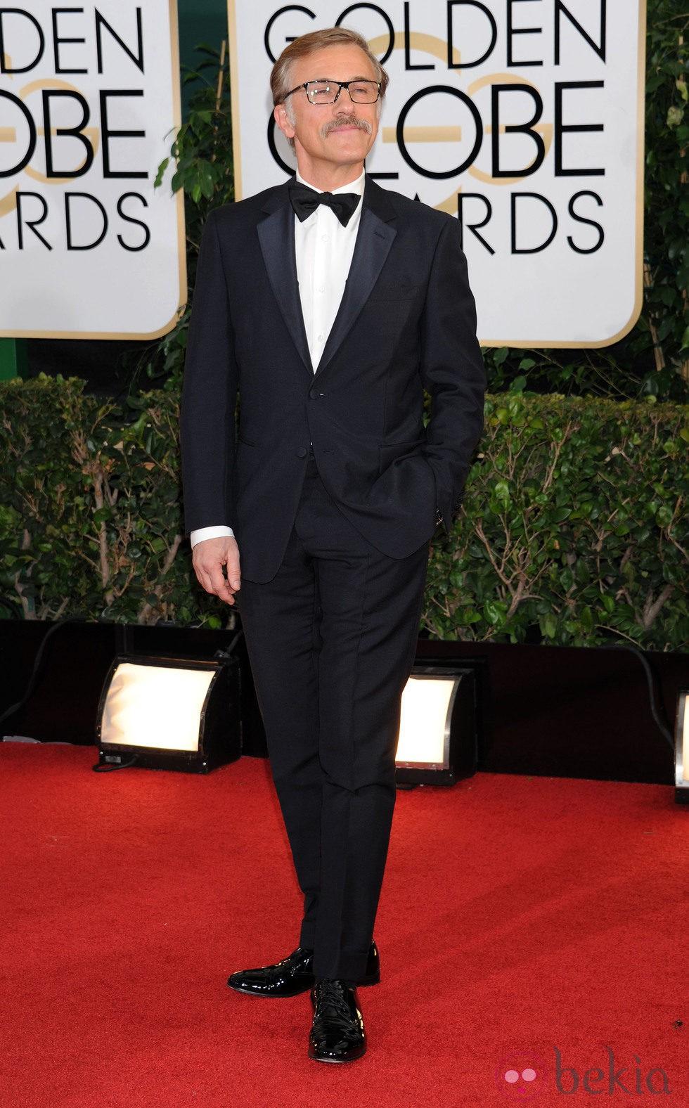 Christoph Waltz en la alfombra roja de los Globos de Oro 2014