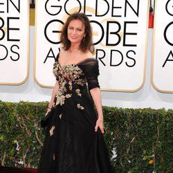 Jacqueline Bisset en la alfombra roja de los Globos de Oro 2014