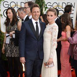 Seth Meyers en la alfombra roja de los Globos de Oro 2014