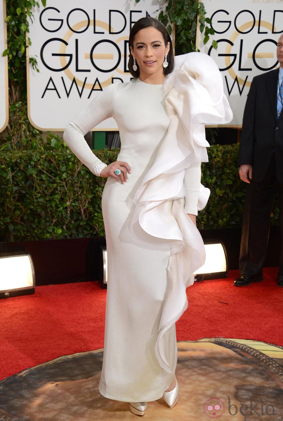 Paula Patton en la alfombra roja de los Globos de Oro 2014