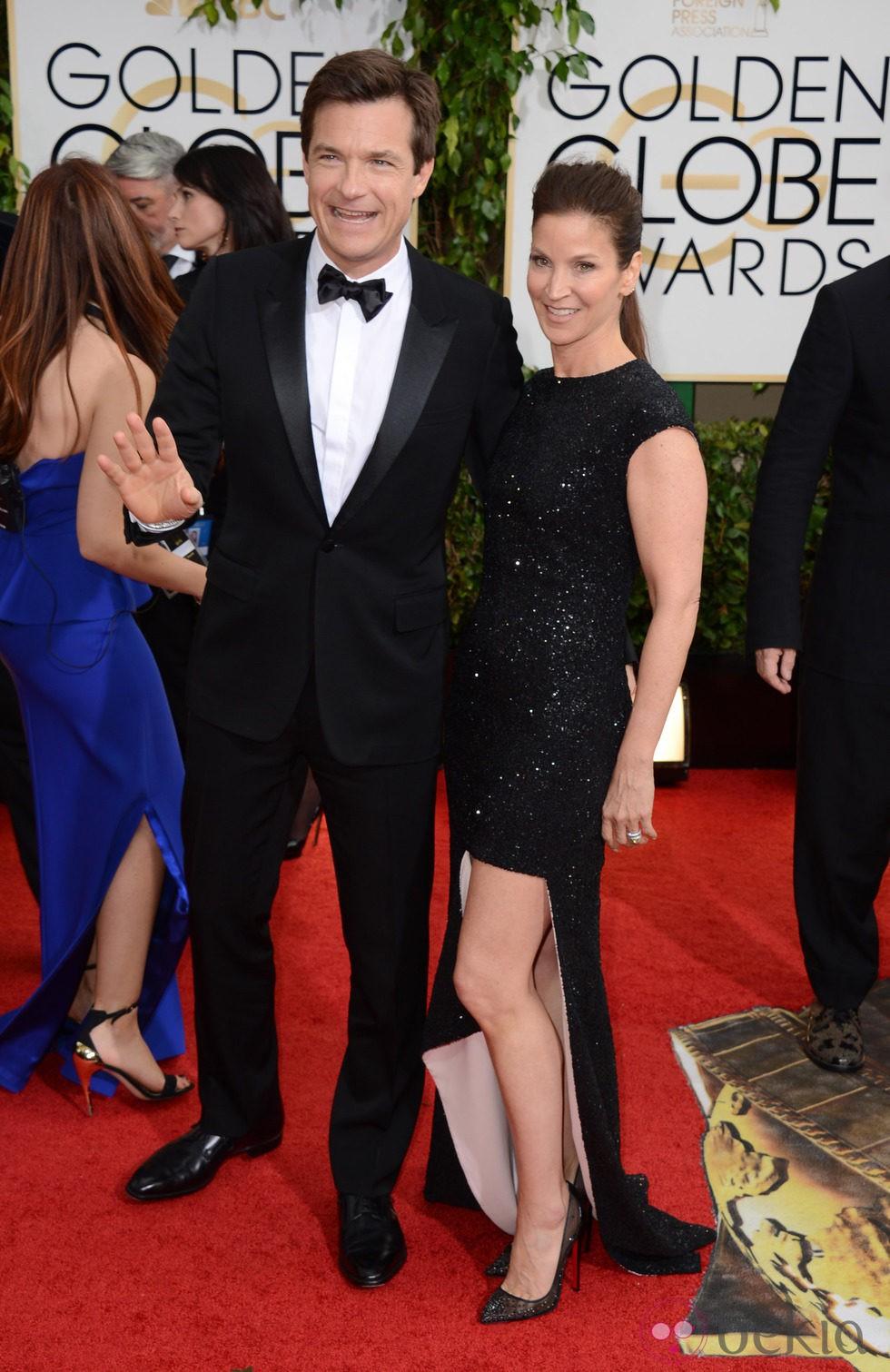 Jason Bateman en la alfombra roja de los Globos de Oro 2014