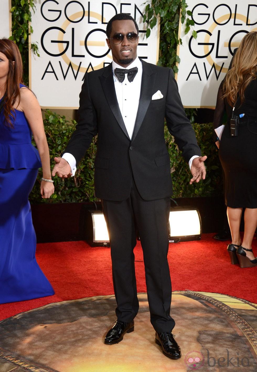Sean Combs en la alfombra roja de los Globos de Oro 2014