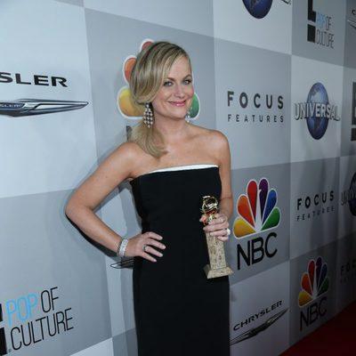 Amy Poehler en la fiesta NBC tras los Globos de Oro 2014