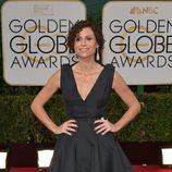 Minnie Driver en la alfombra roja de los Globos de Oro 2014