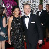 Matt Damon en la alfombra roja de los Globos de Oro 2014