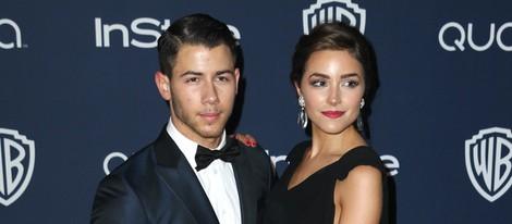 Nick Jonas y Olivia Culpo en la fiesta Warner Bros. tras los Globos de Oro 2014