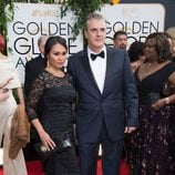 Tara Wilson y Chris Noth en la alfombra roja de los Globos de Oro 2014