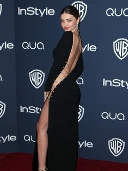 Miranda Kerr en la fiesta Warner Bros. tras la entrega de los Globos de Oro 2014