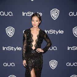 Jamie Chung en la fiesta Warner Bros. tras la entrega de los Globos de Oro 2014