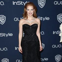 Jessica Chastain en la fiesta Warner Bros. tras la entrega de los Globos de Oro 2014