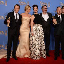El equipo de 'Breaking Bad', mejor serie de drama en los Globos de Oro 2014