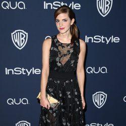 Emma Watson en la fiesta Warner Bros. tras los Globos de Oro 2014
