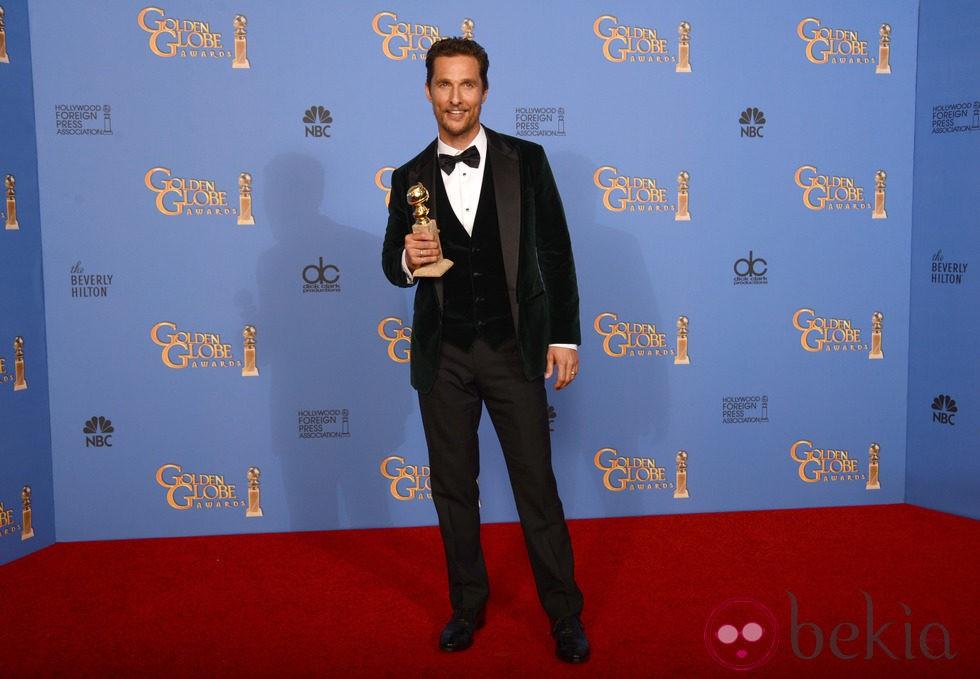 Matthew McConaughey, mejor actor de drama en los Globos de Oro 2014