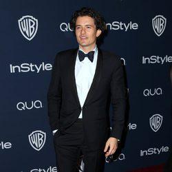 Orlando Bloom en la fiesta Warner Bros. tras los Globos de Oro 2014