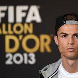 Cristiano Ronaldo en la rueda de prensa previa a la gala del Balón de Oro 2013