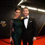 Sergio Ramos y Pilar Rubio en la gala del Balón de Oro 2013