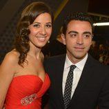 Xavi Hernández y Nuria Cunillera en la entrega del Balón de Oro 2013