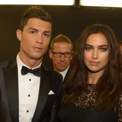 Cristiano Ronaldo e Irina Shayk en la entrega del Balón de Oro 2013
