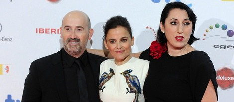 Javier Cámara, Elena Anaya y Rossy de Palma en los Premios José María Forqué 2014