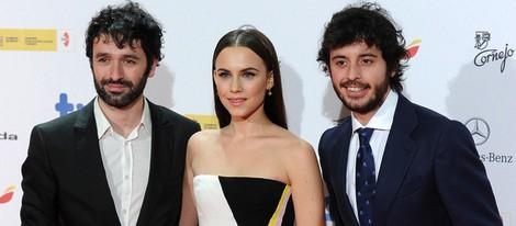 Rodrigo Sorogoyen, Aura Garrido y Javier Pereira en los Premios José María Forqué 2014