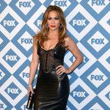 Jennifer Lopez en la presentación de la temporada 2014 de Fox