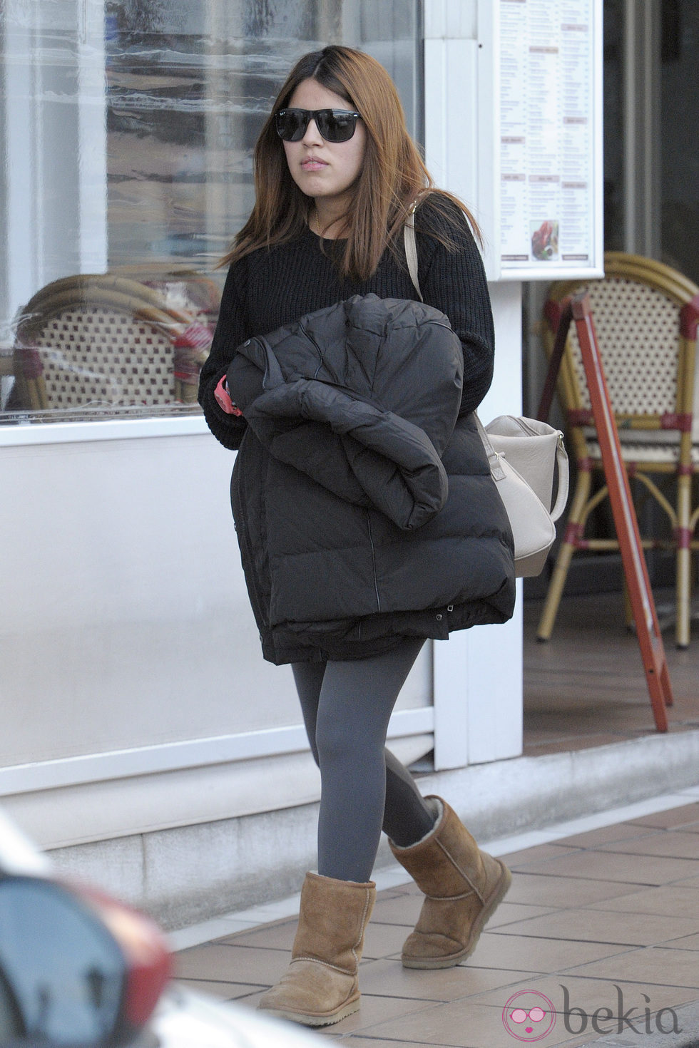 Chabelita Pantoja paseando su embarazo por Marbella