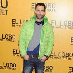 Darío Barrio en el estreno de 'El lobo de Wall Street' en Madrid