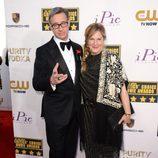 Paul Feig y Laurie Karon en la alfombra roja de los Critics' Choice Movie Awards 2014