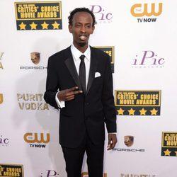 Barkhad Abdi en la alfombra roja de los Critics' Choice Movie Awards 2014