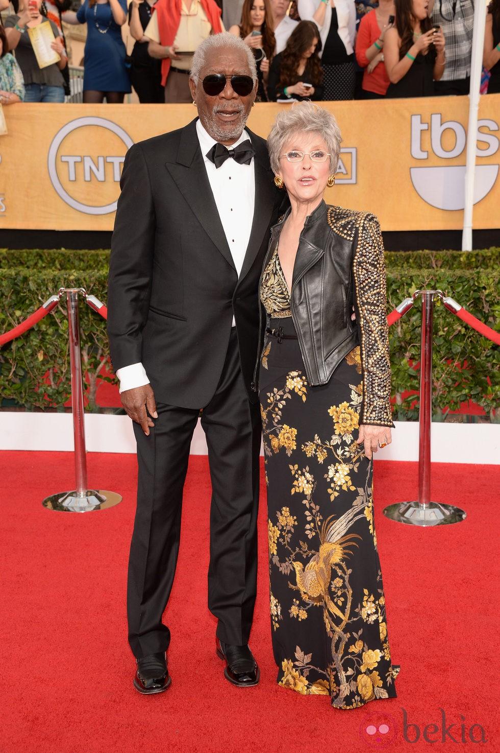 Morgan Freeman y Rita Moreno en los Premios del Sindicato de Actores 2014