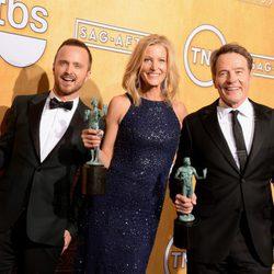 El reparto de 'Breaking Bad' ganadores de los Premios del Sindicato de Actores 2014