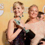 Jennifer Lawrence y el reparto de 'La gran estafa americana', ganadores de los Premios del Sindicato de Actores 2014
