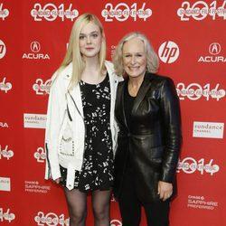 Elle Fanning y Glenn Close a su llegada al festival de cine 'Sundance' 2014