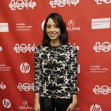 Aubrey Plaza a su llegada al festival de cine 'Sundance' 2014