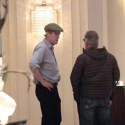 Hugh Laurie en un hotel de Valencia para el rodaje en la Ciudad de las Artes y las Ciencias de 'Tomorrowland'