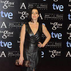 Nora Navas en la fiesta de nominados a los premios Goya 2014