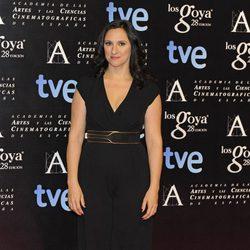 María Morales en la fiesta de nominados a los premios Goya 2014
