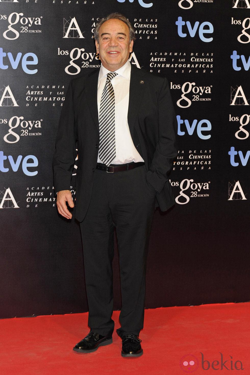 Tito Valverde en la fiesta de nominados a los premios Goya 2014