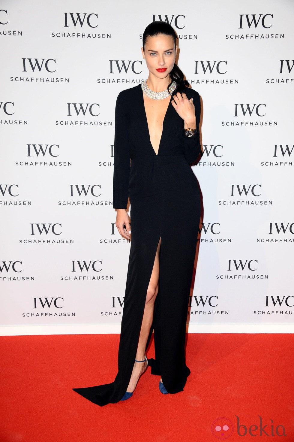 Adriana Lima en la presentación de la colección 'Aquatimer' de IWC