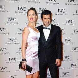 Luis Figo y Helen Swedin en la presentación de la colección 'Aquatimer' de IWC