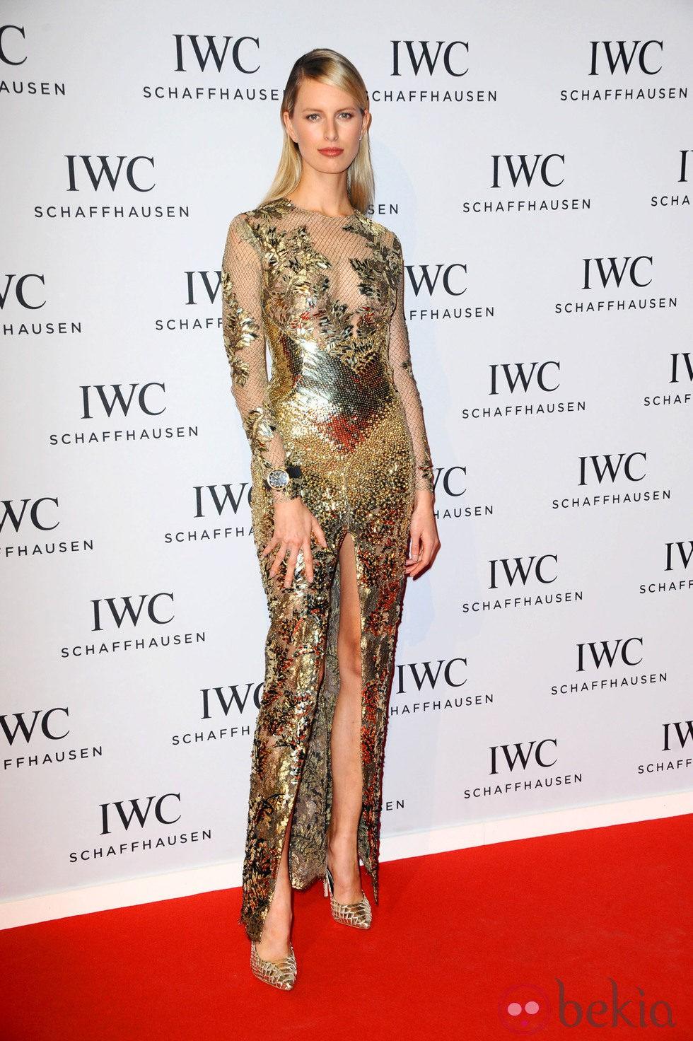 Karolina Kurkova en la presentación de la colección 'Aquatimer' de IWC