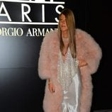 Anna Dello Russo en el desfile de Armani Privé de Alta Costura primavera/verano 2014 de París