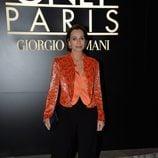 Kristin Scott en el desfile de Alta Costura Armani Privé primavera/verano 2014 de París