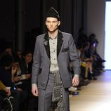 Charlie Centa desfilando en la tercera jornada de Madrid Fashion Show Men 2014