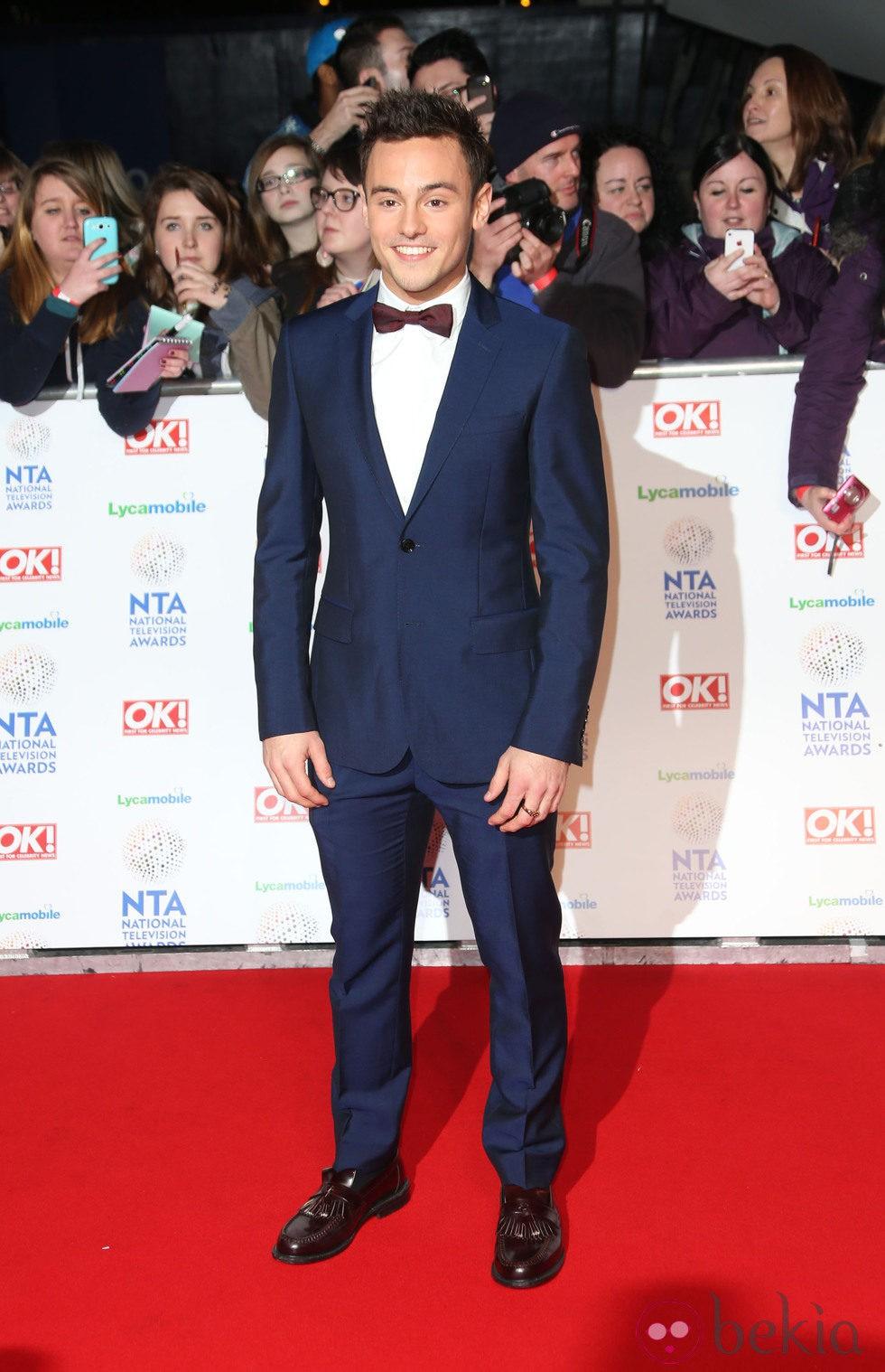 Tom Daley en los premios de la televisión británica 2014